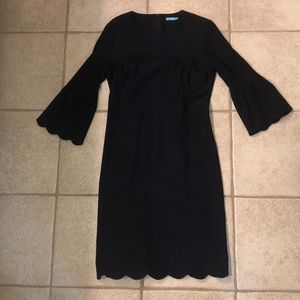 J. McLaughlin size 2 navy dress with bell sleeves